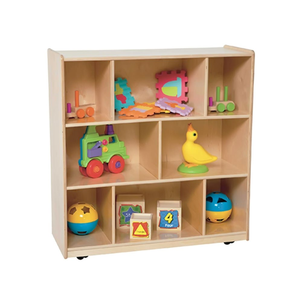 Wood Designs Kids Play Toy Book Plywood Organizer Wd15500 Center Storage Unit 36''H X 36''W X 15''D