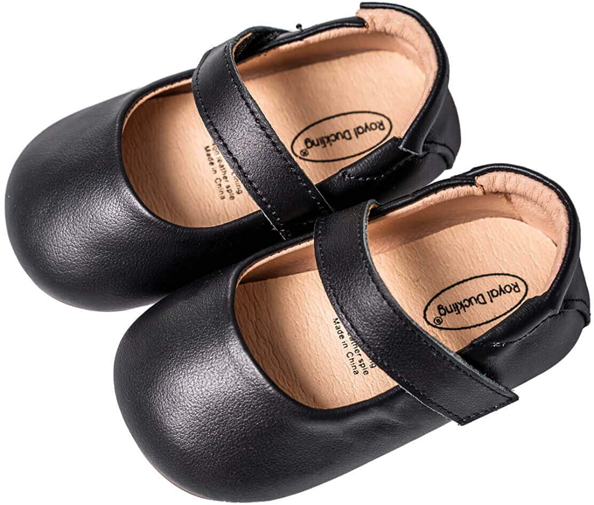 Mowoii Baby Girls Boys Leather Mary Jane Walking Shoes Prewalker Princess Wedding Dress Shoes Ballet Flats