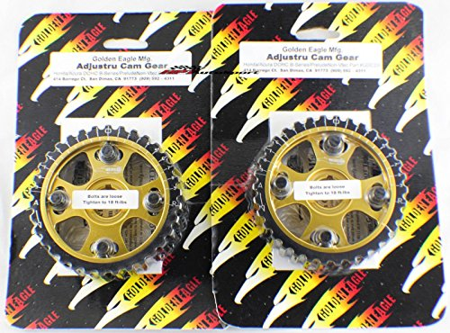 Golden Eagle Cam Gear B16/B18 B18C B18A B18B B16A Integra / Civic Gold (PAIR) (Cam Gears B16)