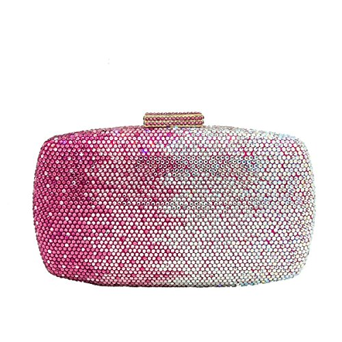 De Paquet Diamant De Soirée Banquet Des Tenant De FZHLY D'épaule Gamme De Haut Sacs De PinkSilver Main Dames PRwqYRxU7