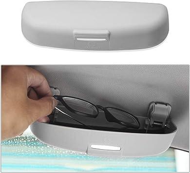 Cdefg Sonnenbrillenhalter Brillenetui Für Eclipse Cross Outlander Auto Brillenhalter Auto Glasses Case Holder Brillenetui Käfig Grau Auto