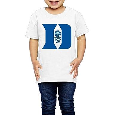 81f10d0e3637 Amazon.com  NINJOE 2-6 Years Youth Funny Duke D University Tee White ...