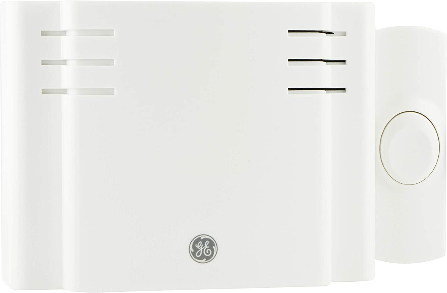 GE Wireless Doorbell Kit, Battery-Operated, 8 Melodies, 1 Receiver, 1 Push Button, 4 Volume Levels, 150 Ft. Range, Mountable, White, 19248
