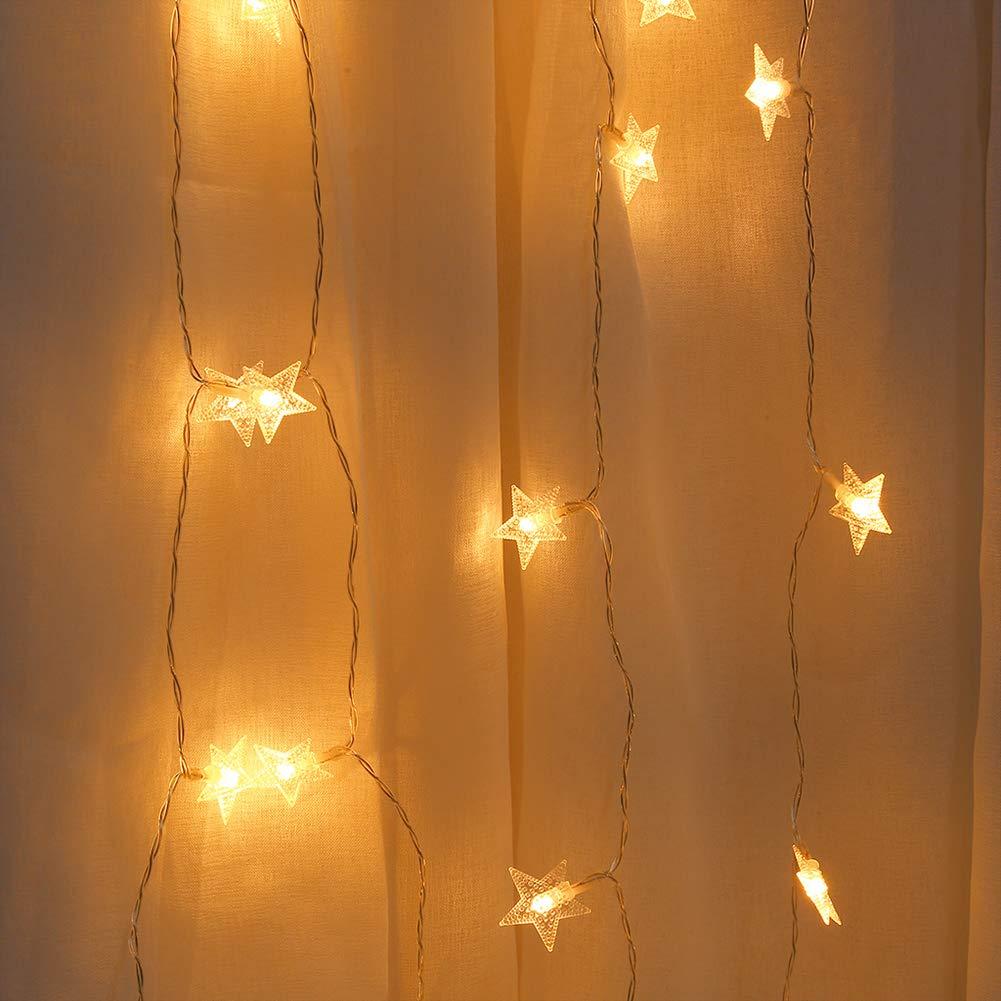 Enticerowts Guirlande lumineuse 20 LED en forme d/étoile avec port USB 1