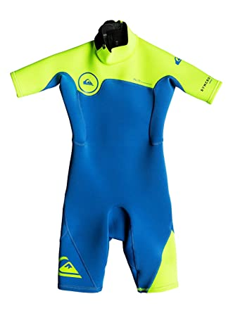 d3ca9ef0b55a2 Quiksilver 2 2mm Syncro Series - Short Sleeve Back Zip FLT Springsuit Boys 2-7   Quiksilver  Amazon.co.uk  Clothing