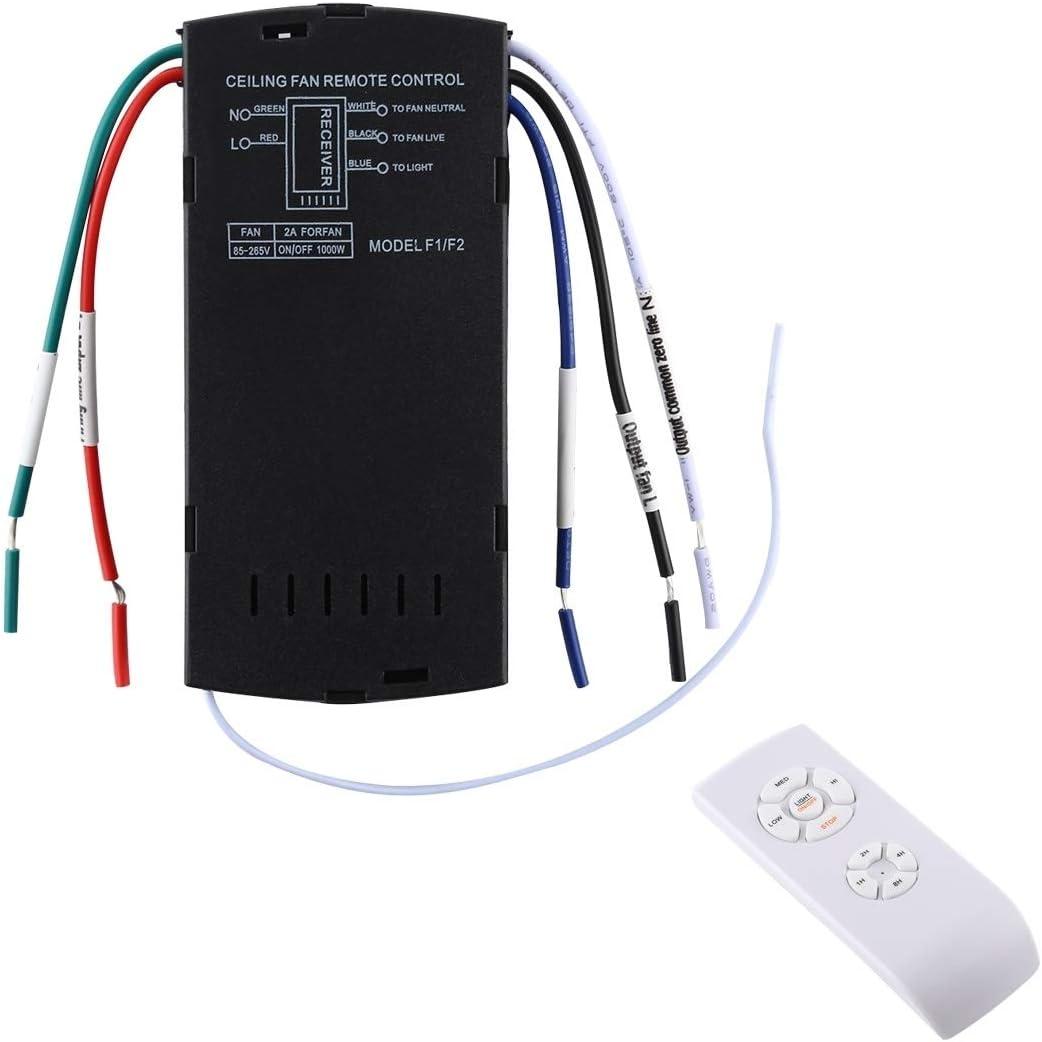 ZTH Universal de la lámpara de Techo Ventilador Remoto Kit de Control de 85-265V sincronización inalámbrica Interruptor de Control de Velocidad del Viento Ajustado transmisor Receptor