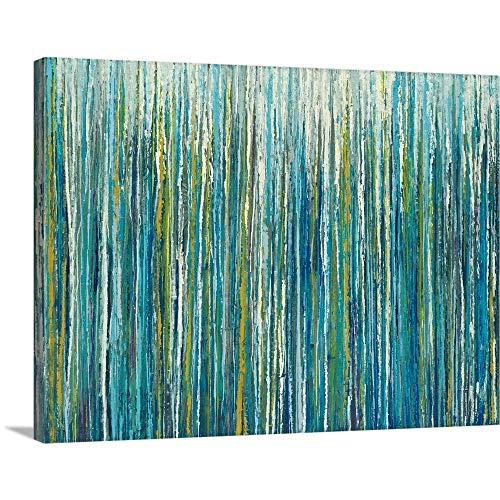 Liz Jardine Premium Thick-Wrap Canvas Wall Art Print entitled Greencicles 40