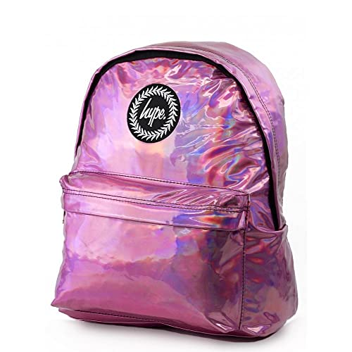 top quality uk cheap sale superior quality Hype Pink Holographic Backpack Rucksack Bag - Ideal School Bags - Rucksack  For Boys and Girls