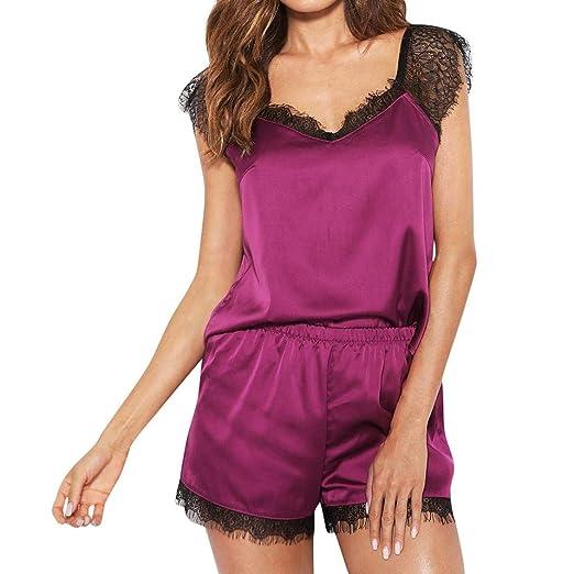 4a741a6d5c Sexy Sleepwear Set Nightwear for Women Satin Silk Sleepwear Shorts for Women  (XS Bust