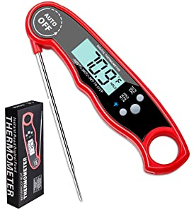 Digital Food Thermometer Instant Read, Foldable and Portable for use in The Kitchen, Thermometer for Grilling BBQ Baking Candy Liquids Oil