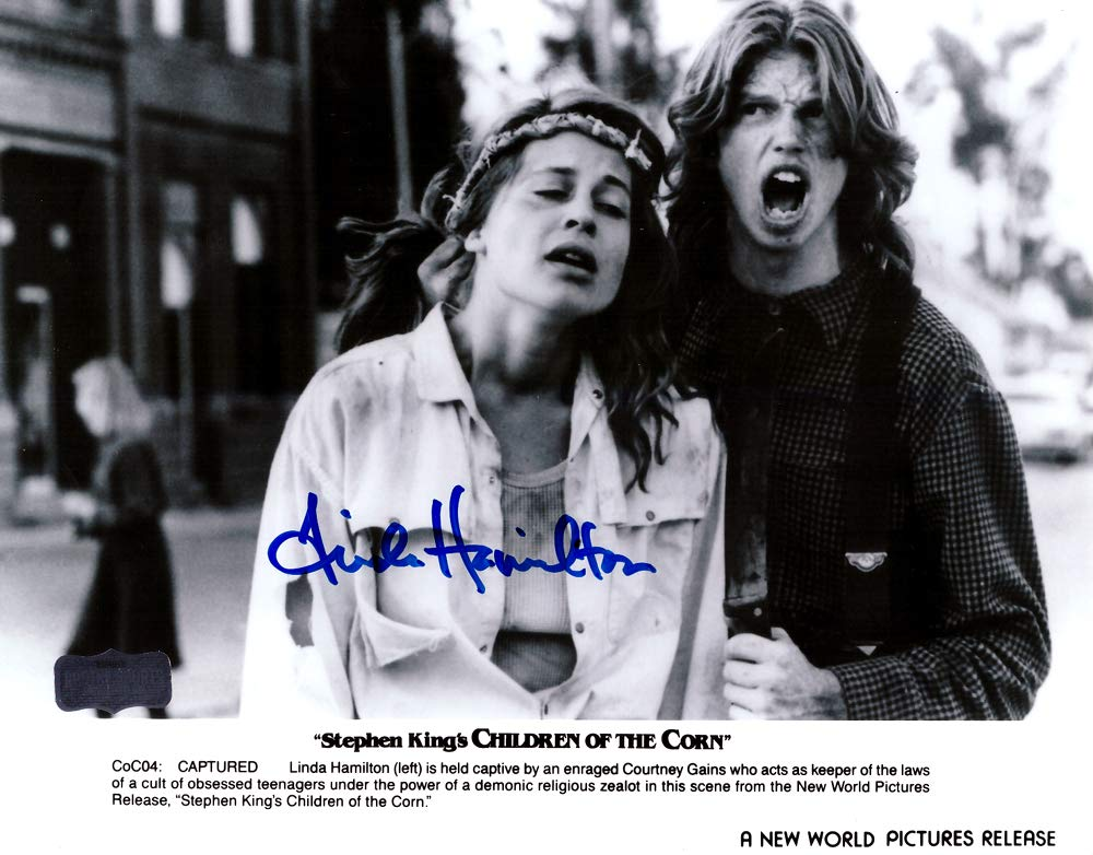 621a335528 Linda Hamilton Autographed Signed Children Of The Corn 8x10 Photo - B W at  Amazon s Sports Collectibles Store