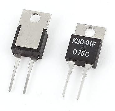 sourcing map 2piezas KSD-01F H75C 75C N.C Interruptor de ...