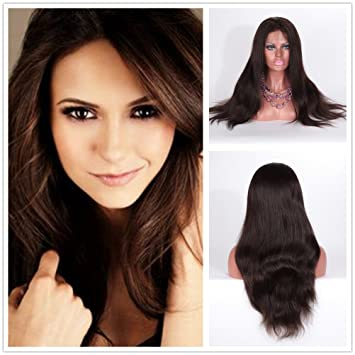 Wigsroyal Natural Straight Full Lace Wig Affordable Indian Human Hair Wigs  For African American Women Light 65baad069e
