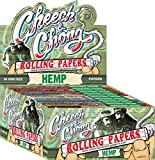 8 Packs Cheech and Chong King Size Hemp Cigarette Rolling Papers (50 Rolling Papers Per Pack) + Limited Edition Beamer Smoke Sticker. Used with Legal Smoking Herbs, Rolling Tobacco, Herbal Mixes