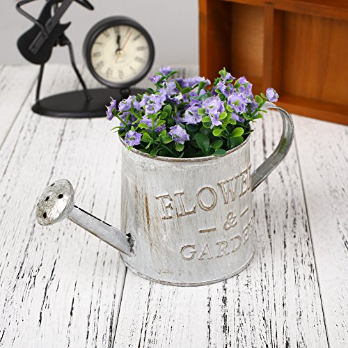 Hanbaili Vintage hierro extraíble cubo de metal maceta planta colgante cesta artesanía pared