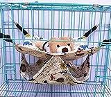 Mengbei tribe Pet Cage Hammock Double Layer Hammock