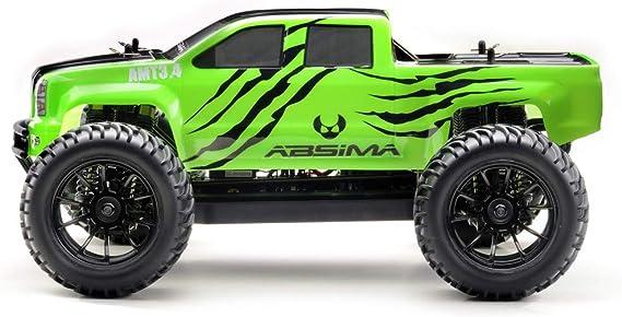 Absima Hot Shot Absima 1 10 Rc Modellauto Amt3 4 Monster Truck Mit Brushed Elektroantrieb 2 4 Ghz Fernsteuerung Und Allradantrieb Rtr Neon Grün Spielzeug