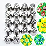 Janolia Cake Decorating Tips, 18 Pcs Cake Icing Piping Tools, Flower Frosting Tips