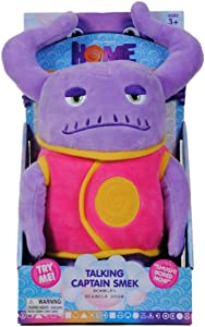 Dreamworks home - Talking Captain Smek Plush Toy - Squeeze His Tummy To Hear 5 Key Phrases from the Movie - Lightweight, Soft, Cuddly Toy - Makes for a Great Travel Buddy