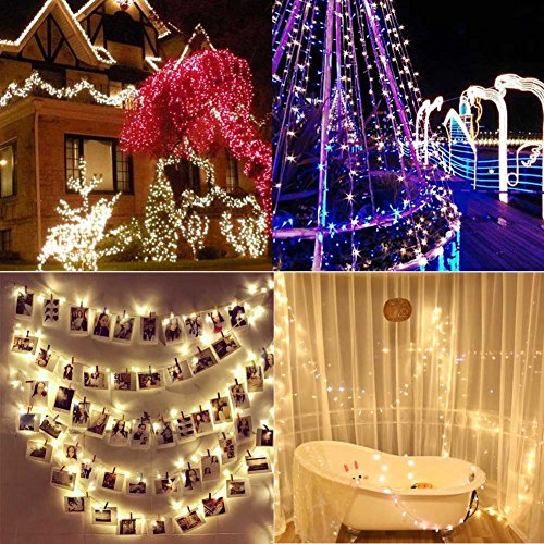 Lily's Gift LED String Lights with 66ft 200LED 8 Modes Irregular Firefly Starry String Light for Patio, Garden, Yard, Square, Chritmas, Wedding Decor (Warm Light) by Lily's Gift (Image #6)