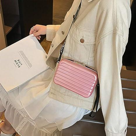 Makasy Mini Bolso de Hombro rígido, Bolso de Hombro para teléfono móvil Bolso de Mano para Mujer Bolso de Equipaje pequeño de Moda Bolso de Mujer con