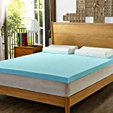 Cooling Memory Foam Mattress Topper HOFISH 3-inch Gel Memory Foam Mattress Topper - Queen