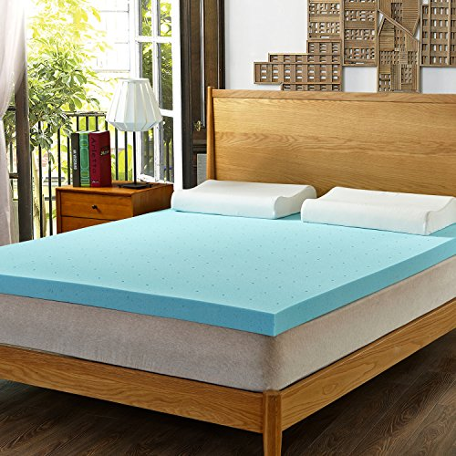 HOFISH 3 inch Gel Memory Foam Mattress Topper - King by HOFISH