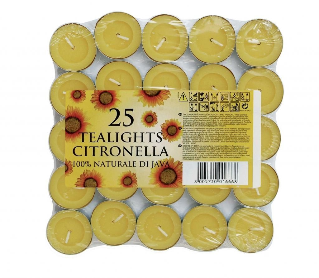 Prices Citronella Tealight Candles Mosquito Fly Insect Repeller Pack Of 50 Price's Candles