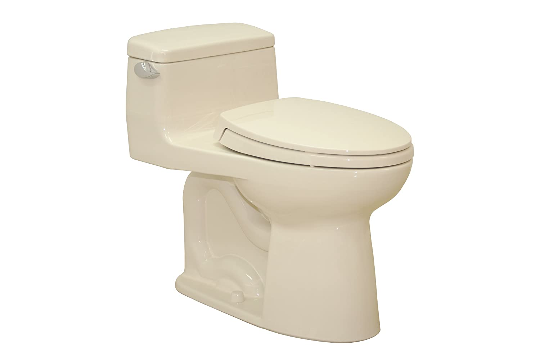 TOTO MS864114L#03 Supreme Elongated ADA Toilet, Bone - One Piece ...