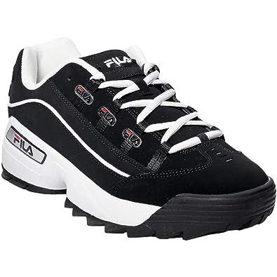 cf0aaa29bd Fila 1CM00409-014: Mens Hometown Black/White/Red Sneakers
