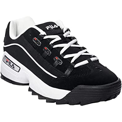 00ef80e44e Fila 1CM00409-014: Mens Hometown Black/White/Red Sneakers