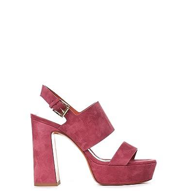 81bc48e7148 Santoni Women's Whv055477hx2rmgdp51 Red Suede Sandals: Amazon.co.uk: Shoes  & Bags