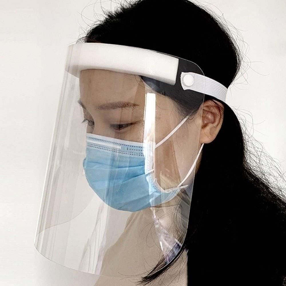 MOCN Máscara De Escudo Transparente Cara Cara De Guardia contra Salpicaduras, Tapa Protectora De La Cara, Máscara De Protección Completa para Cocinar Polen Humo Polvo,1PCS