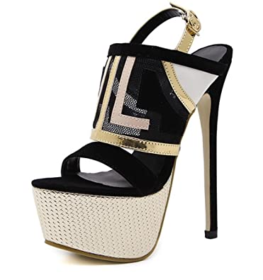 1866a9d6ac3 Ladies Sexy Summer Fight Color Open Toe Chunky Sole Block Heel Sandals  Womens