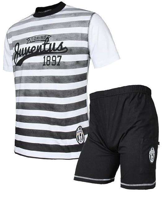 d22c5d6e2f5a39 PLANETEX Pigiama Ragazzo Maglietta e Pantaloncini Juventus Abbigliamento  Juve *23971: Amazon.it: Abbigliamento