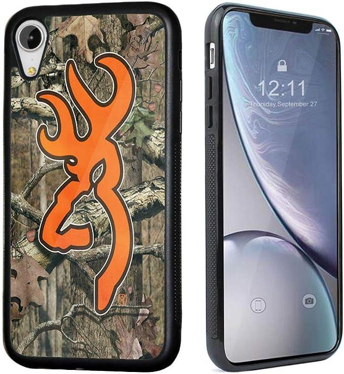 iPhone XR Case,VONDER Browning Camo Logo Black TPU Tough Cellphone ...