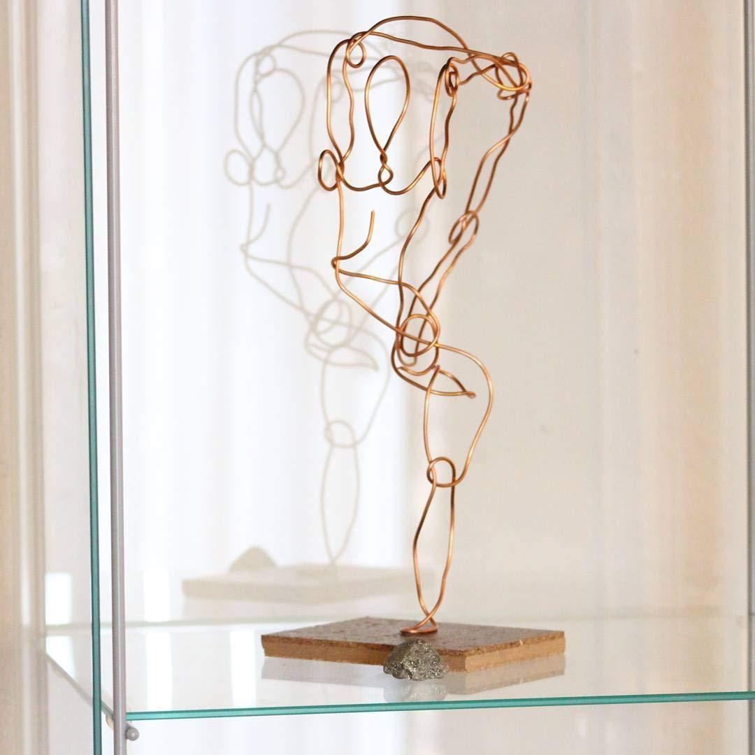 Standing Scorpion Pose yoga sculpture gift art stand figurine wire statue figure studio yogi handmade decor creative decorative home office friends family personal practice spiritual