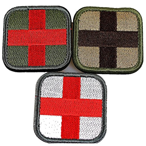Horizon Medic Cross Tactical Patch - Olive Red White Green (brown)