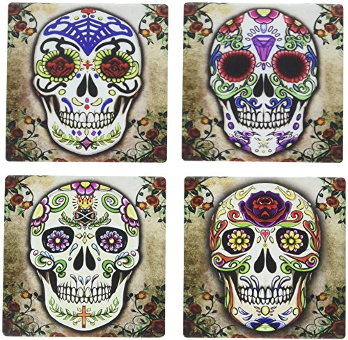 Sugar Skull Spirit Coaster Set of 4