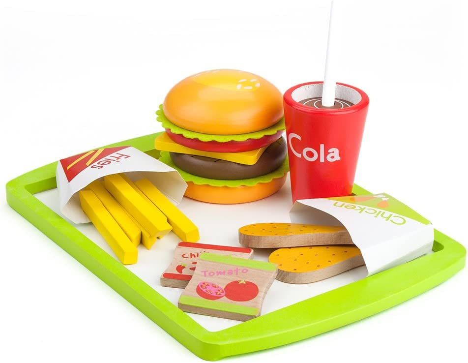 Imagination Generation Wooden Fast Food Deluxe Dinner - 21 Assorted Pieces!