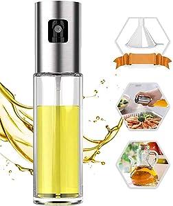 Oil Sprayer for Cooking, 100ml Oil Spray Bottle Versatile Glass for Cooking, Baking, Roasting, Grilling