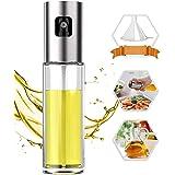 PUZMUG Oil Sprayer for Cooking, 100ml Oil Spray Bottle Versatile Glass for Cooking, Baking, Roasting, Grilling
