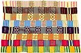 Fair Trade Kenya African Ghana Kente Cloth, 58 '' Across Approximately, #7747