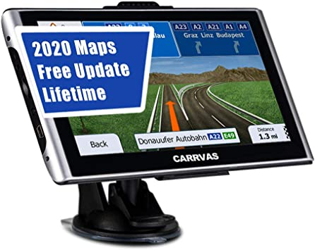 GPS Navigation For Car RV Trucker System US Canada Mexico Maps 7 Inch Navigator