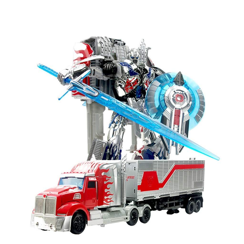 Xuping Kinder Verformung Spielzeug Transformers 5 Optimus Gott Gott Container Roboter Modell Junge Spielzeug Verformung Auto Modell Geschenk (Farbe : B)