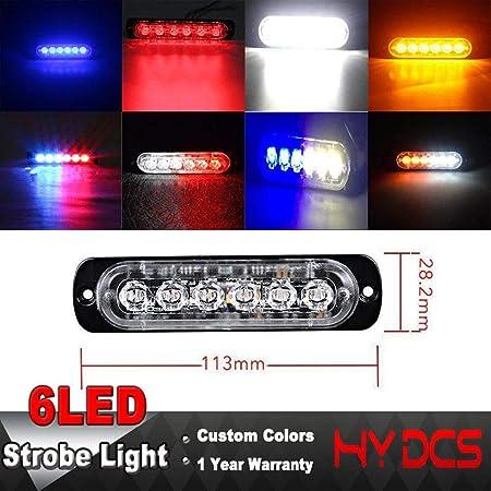 Yeloye 12V 24V 6 LED Light Bar Emergencia Ámbar Estroboscópico ...