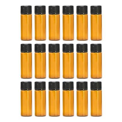 Esencial Botella de Aceite[20PCS],Vococal® Portátiles 5ML Botellas de Vidrio Recargables