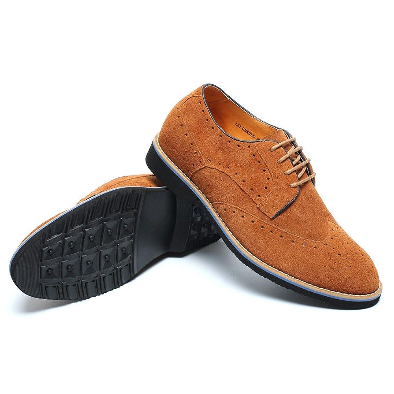 CHAMARIPA Zapatos Brogues Gamuza Para Hombre Para ser 7 cm Más Alto - L61C20K013D (38, Gris)