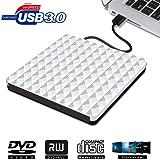 Lettore Masterizzatore CD DVD Esterno USB 3.0, Portatile Unità di Lettura Esterna DVD Scrittore per Apple Mac OS/Windows / Vista/XP