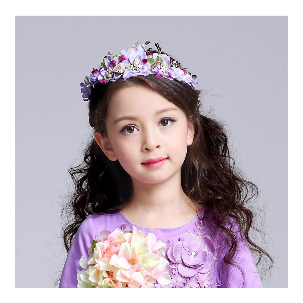 Wreath Girl Flower Headband Handmade Wedding Party Sweet Super Fairy Hair Accessories Hair Band